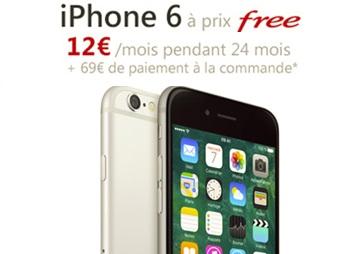 Bon plan Free Mobile   iPhone 6 à prix Free 3422be260344
