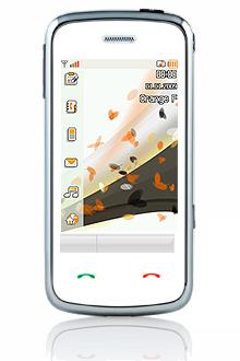 zoom sur le t l phone portable tactile musique d 39 orange. Black Bedroom Furniture Sets. Home Design Ideas