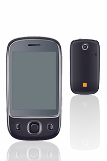 zoom sur le t l phone portable tactile tv d 39 orange. Black Bedroom Furniture Sets. Home Design Ideas