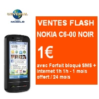 vente flash sur le t l phone nokia c6 00 chez universal mobile. Black Bedroom Furniture Sets. Home Design Ideas