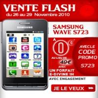 vente flash sur le samsung wave s723 chez virgin mobile. Black Bedroom Furniture Sets. Home Design Ideas