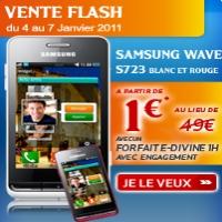 vente flash du samsung wave s723 blanc ou rouge chez virgin mobile. Black Bedroom Furniture Sets. Home Design Ideas