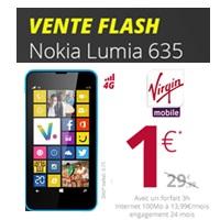 vente flash virgin mobile le nokia lumia 635 en promo 1 au lieu de. Black Bedroom Furniture Sets. Home Design Ideas