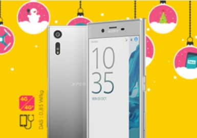 sony, xperia XZ, sosh, orange, vente flash, noel