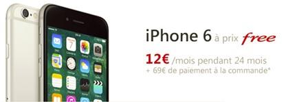 Vous pouvez toutefois verser au bout des 24 mois, la somme de 100€ pour  conserver votre iPhone. Free Mobile propose l iPhone 6 32Go en 3 gris  sidéral. 221838dc314b