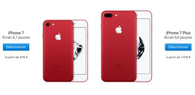 apple lance l iphone 7 et 7 plus product red et l 39 iphone se 32 et 128 go. Black Bedroom Furniture Sets. Home Design Ideas