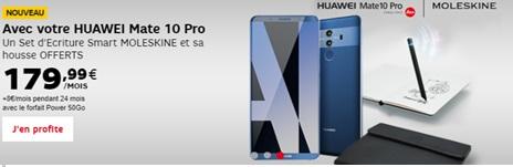 Le Huawei Mate 10 Pro est arrivé chez SFR : son prix avec