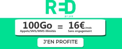 Bannière RED by SFR verte 100Go