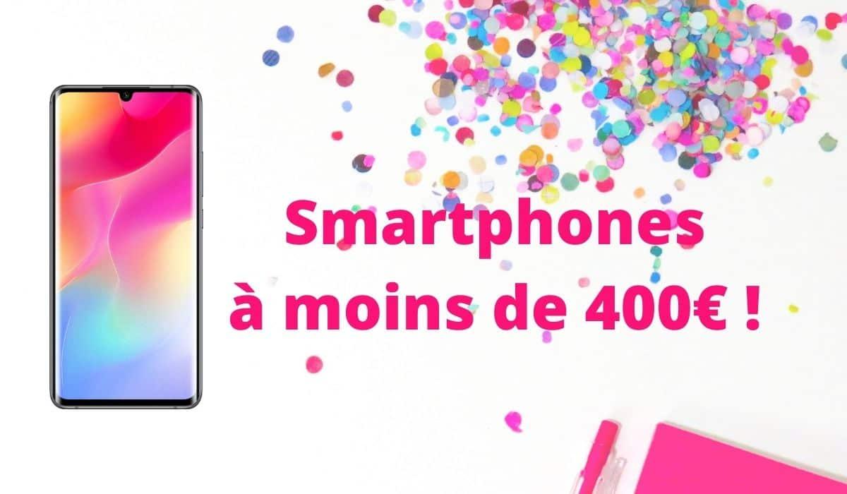 Meilleurs smartphones 2020 à moins de 400 euros !
