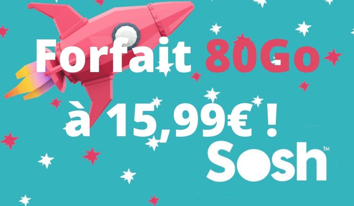 Le forfait mobile Sosh en promo à vie ! ⭐
