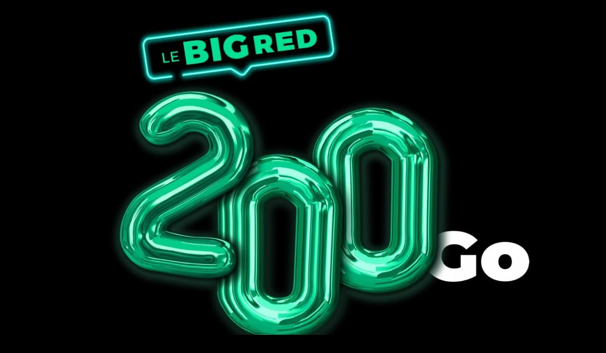 Le bon plan forfait mobile BIG RED 200Go de retour