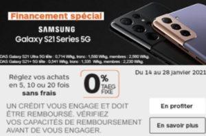 Financement Galaxy S21 Boulanger