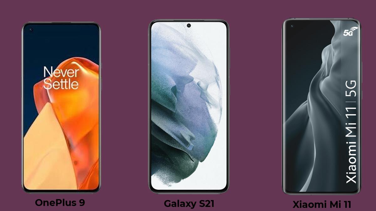 Oneplus 9, Xiaomi Mi 11 ou Galaxy S21, quel smartphone haut de gamme acheter?