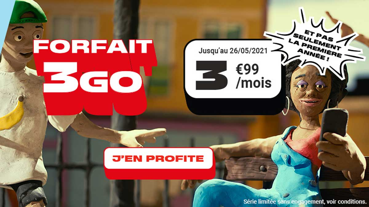 Nouvelle promo NRJ Mobile : le forfait 3 Go à 3,99 € par mois, même après un an