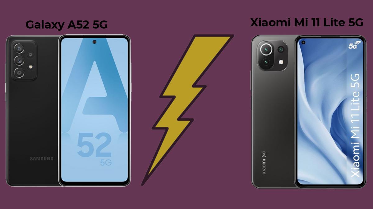Galaxy A52 5G ou Xiaomi Mi 11 Lite 5G: quel smartphone milieu de gamme 5G est le meilleur?