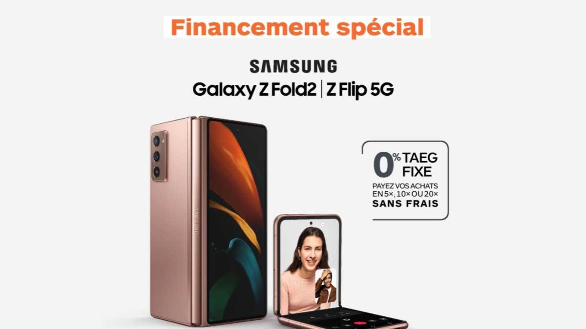 Financement spécialBoulanger : Samsung Galaxy Z Fold 2 et Galaxy Z Flip 5G accessibles !