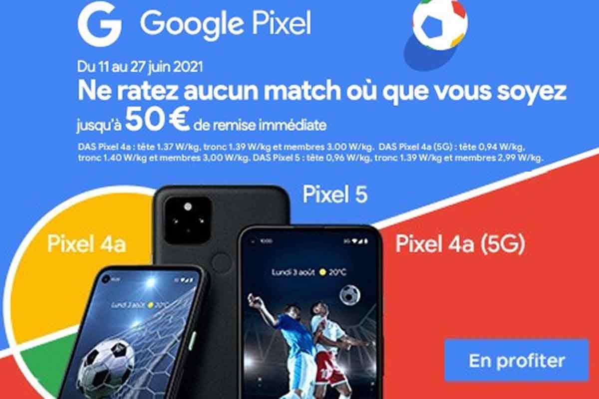 Jusqu'à 50 € de remise sur plusieurs smartphones Google Pixel chez Boulanger