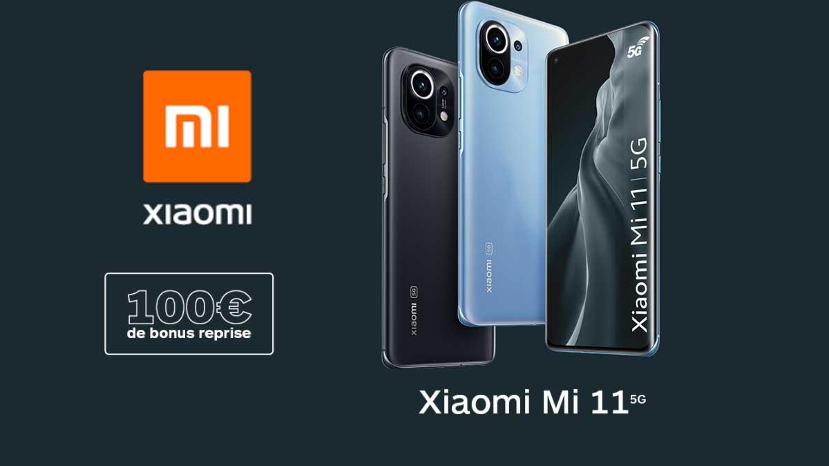 Bon plan: 100 € de bonus de reprise pour l'achat d'un Xiaomi Mi 11 chez Boulanger